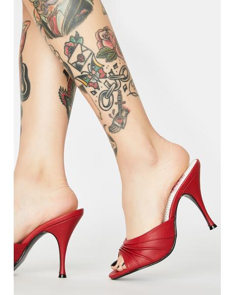Monroe Peep Toe Heels