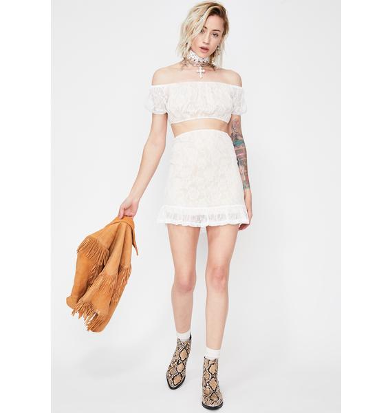 Love Escapade Lace Skirt