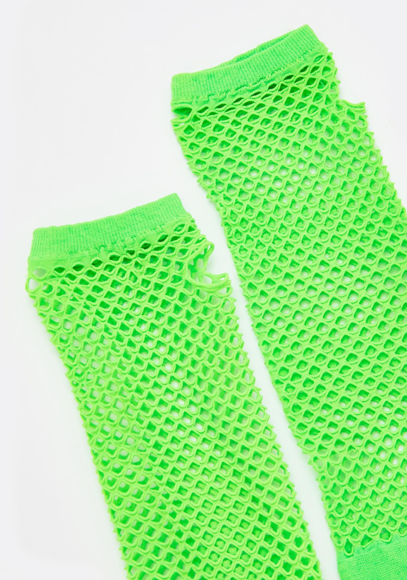 Acidic Elixir Fishnet Gloves