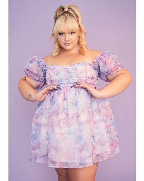 She's On Cloud Nine Babydoll Dress