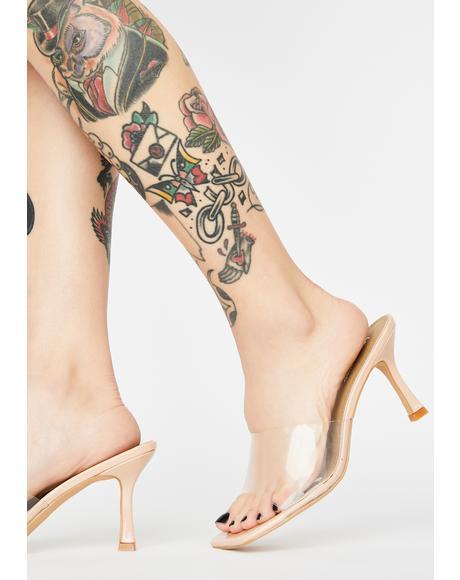 Clearly Classy Peep Toe Heels