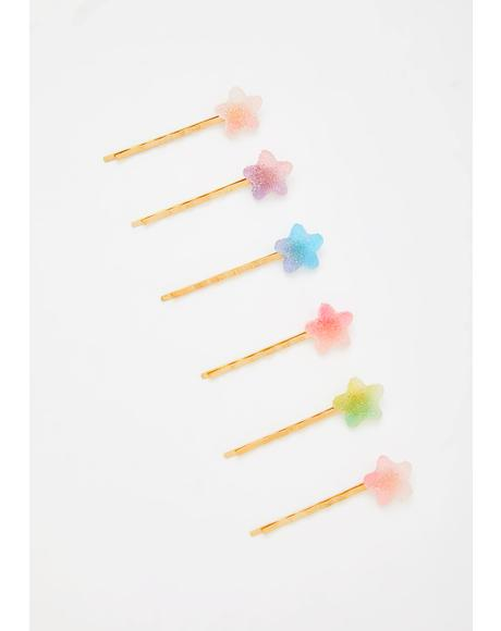 Sugar Coated Stars Bobby Pin Set