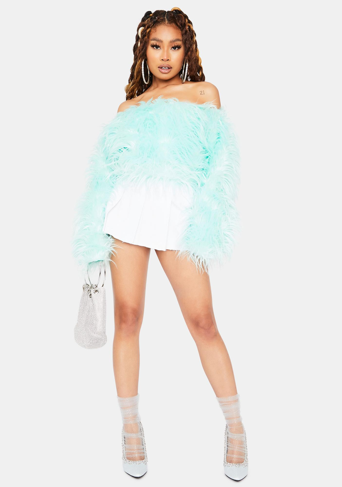 Mint Something Like This Off The Shoulder Top