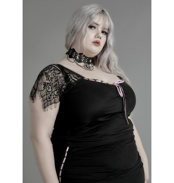 Widow Miss Enchanted Marionette Lace Top