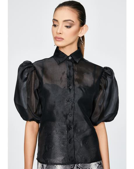Black Maloney Sheer Blouse