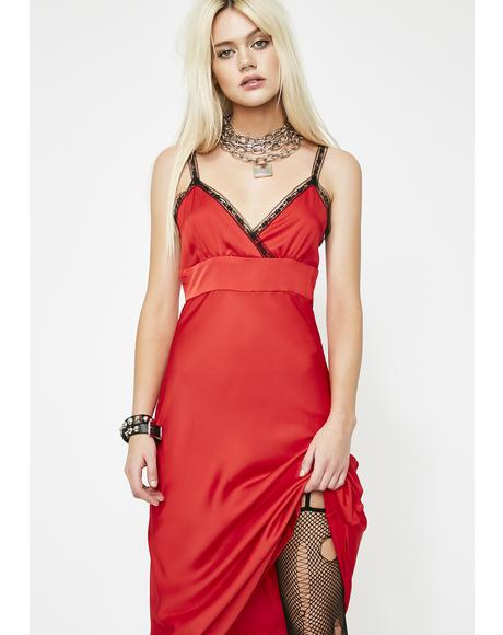 Cherry Nancy Downs Midi Dress