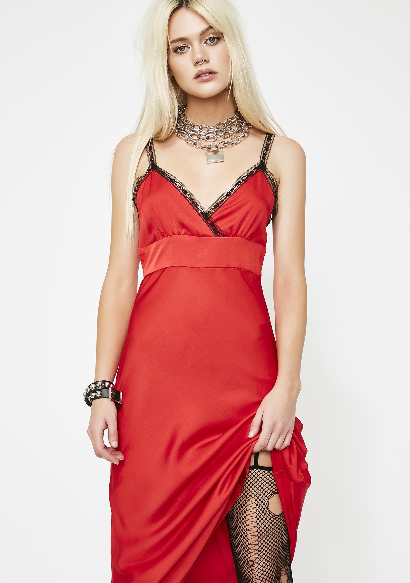 Cherry Nancy Downs Midi Dress