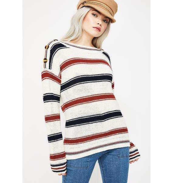 Boo Never Come Down Knit Sweater