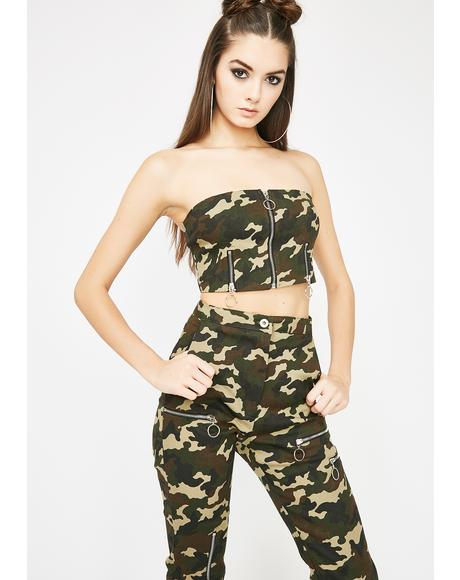 Manhunt Zippered Camo Set