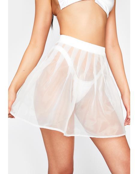 Rave Angel Organza Skirt