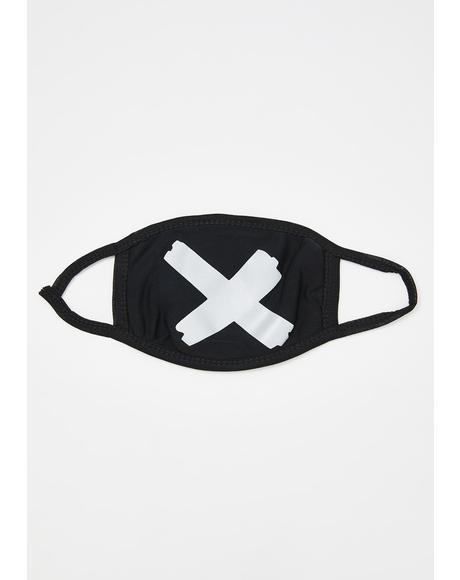 X Mark Reflective Mouth Mask