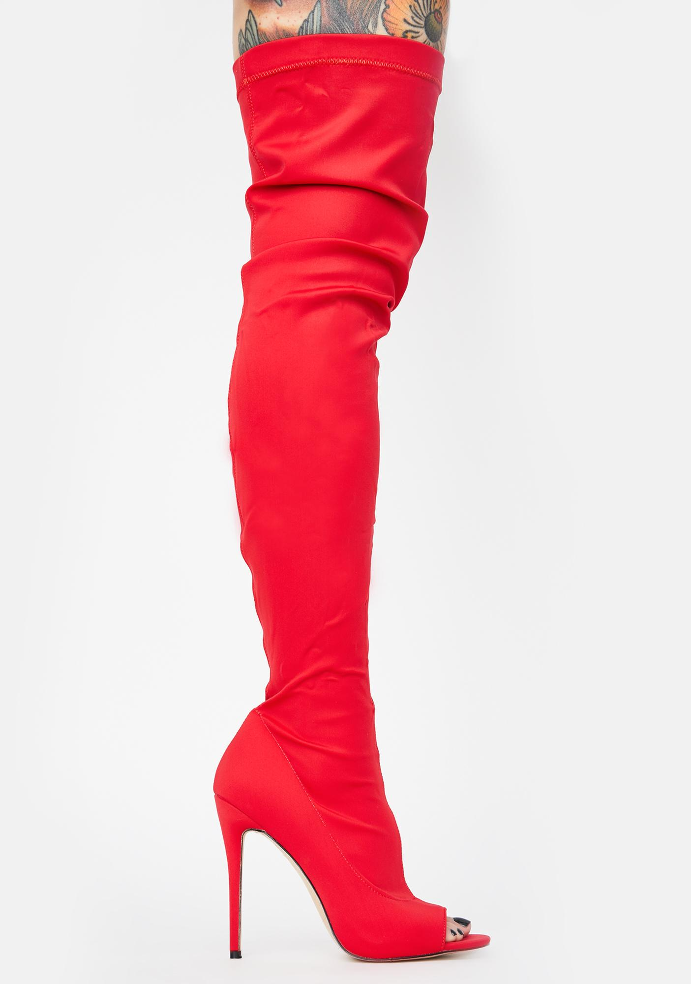 Public Desire Vocal Over The Knee Boots