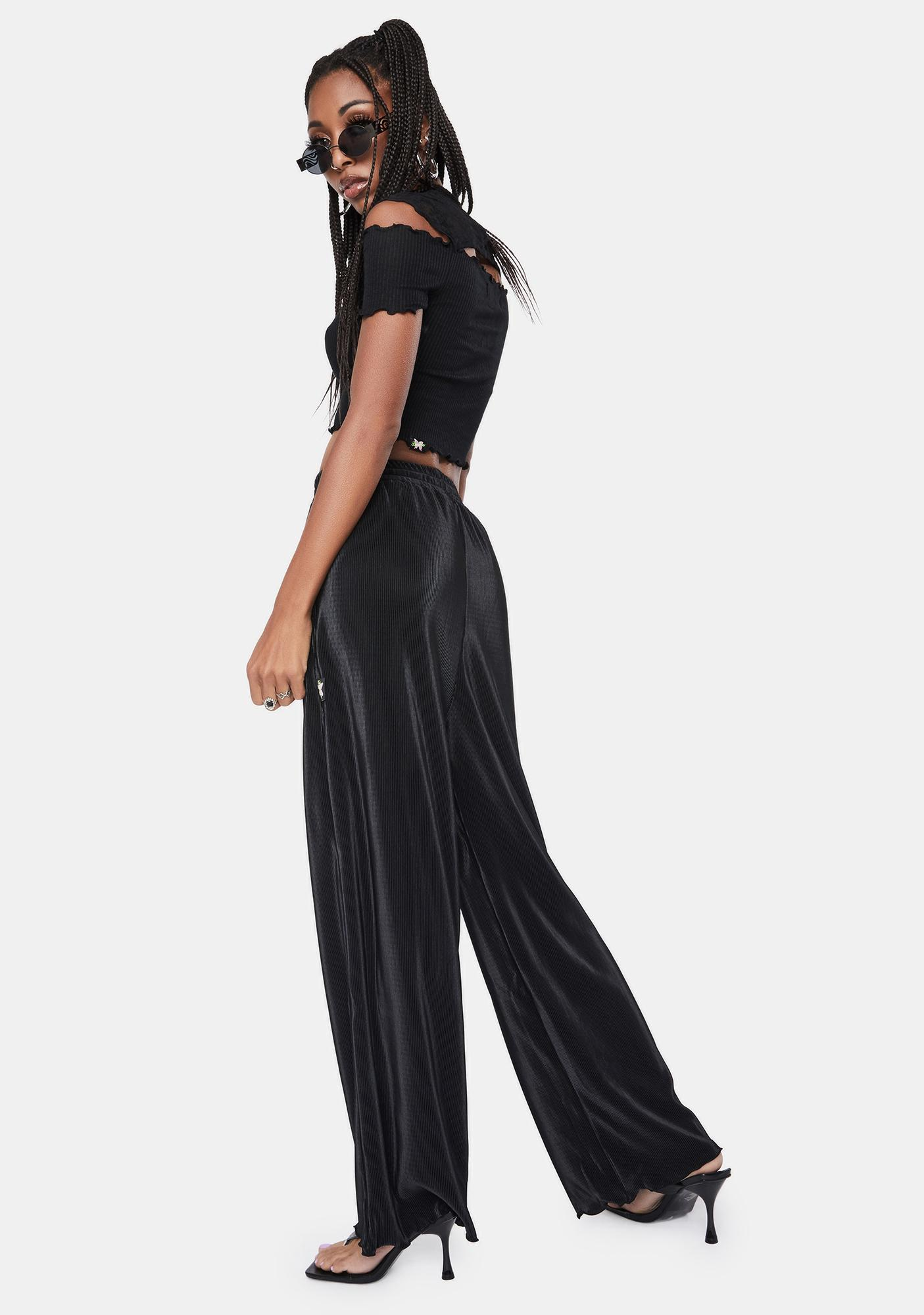 BADEE Pleated Wide Leg Pants