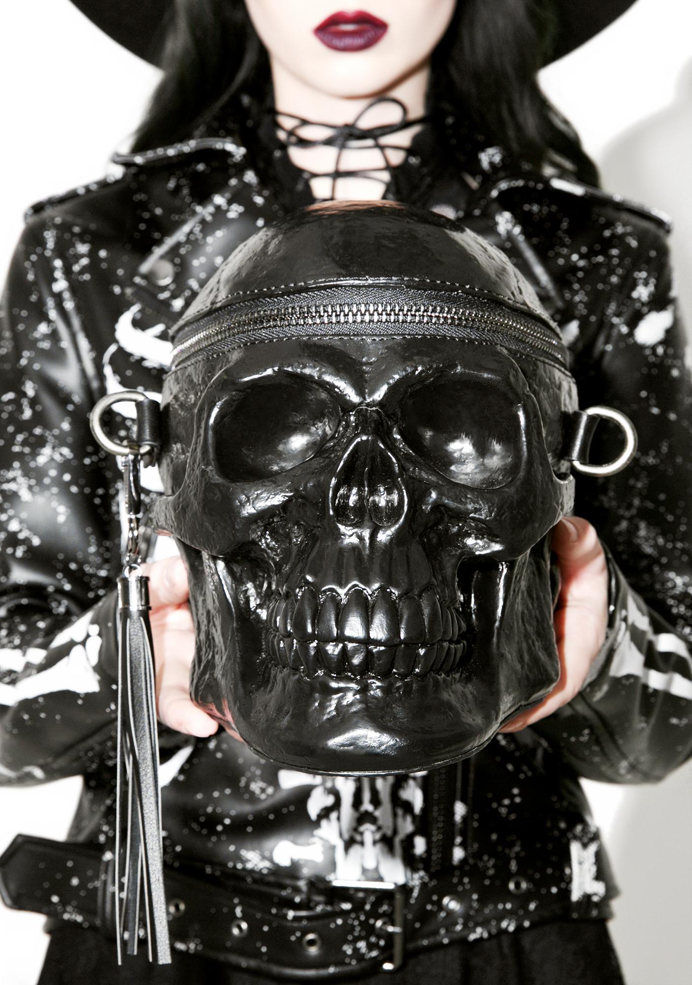 Killstar Grave Digger Skull Handbag