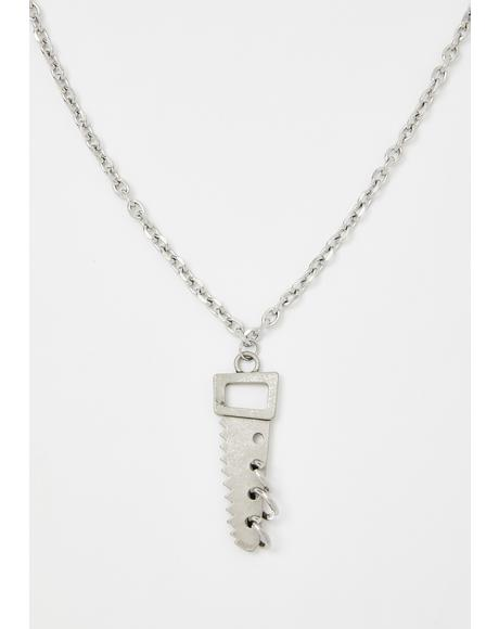 Run N' Hide Chainsaw Necklace