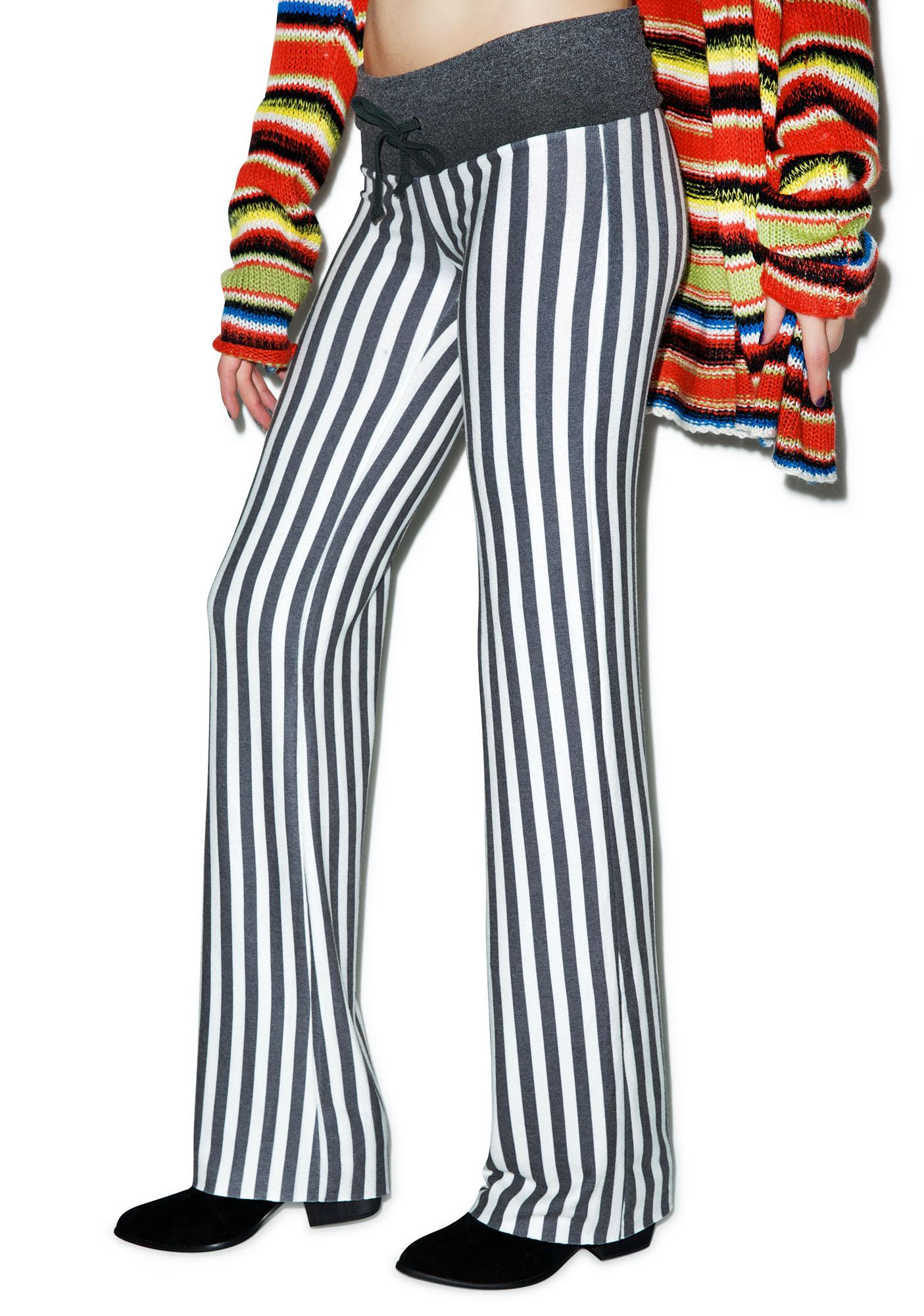 Wildfox Couture Fox Stripe Baggy Beach Pants