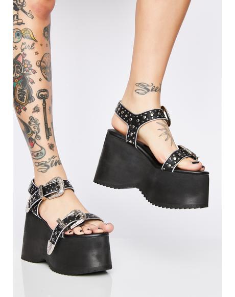 Lawbreaker Platform Sandals