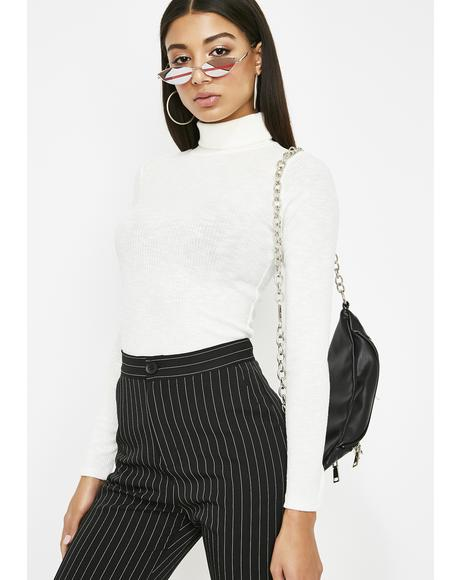 Purely Spillin' Tea Turtleneck Top