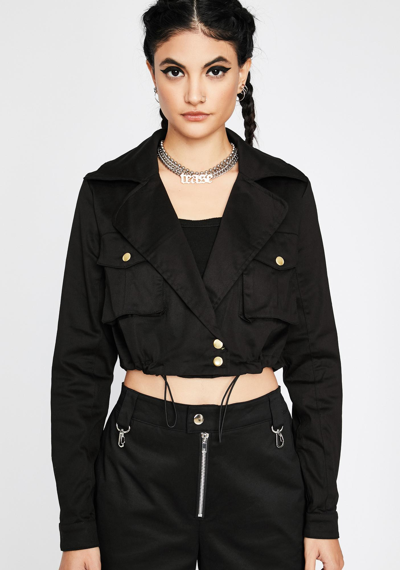 Night Boss Of Me Cropped Jacket