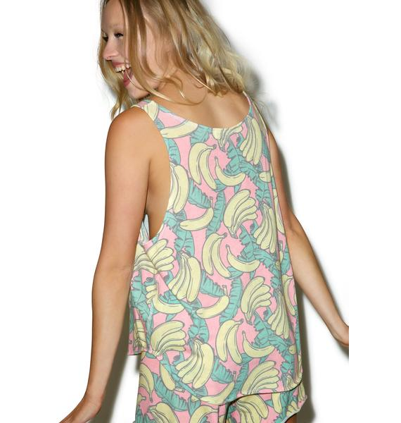 Wildfox Couture Banana Print Hiker Tank