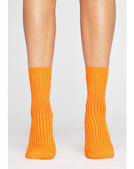Stay Movin' Ribbed Socks