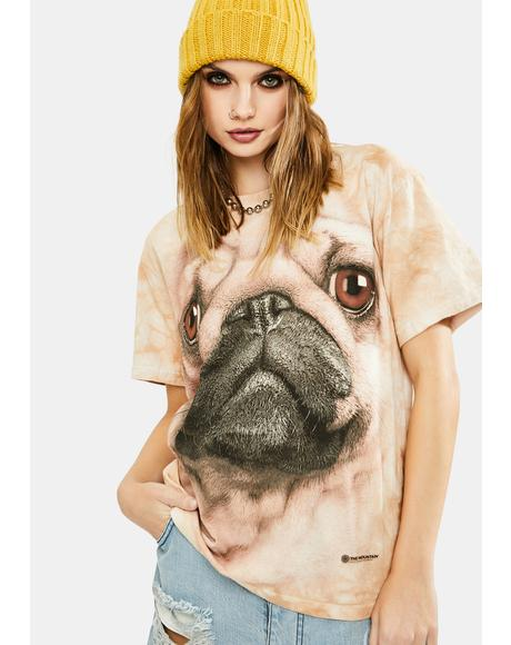 Pug Face Graphic Tee
