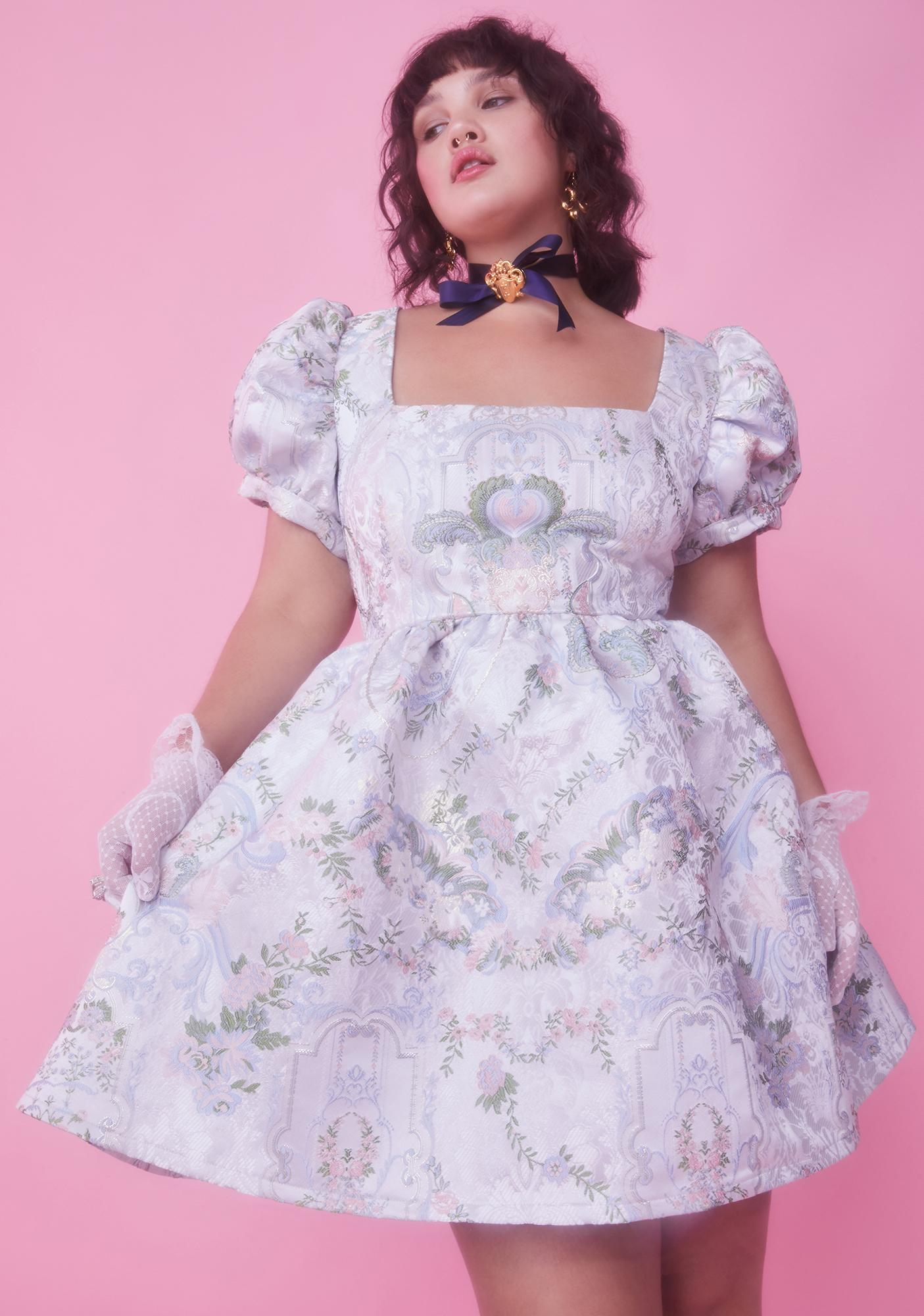 Sugar Thrillz Honey If The Shoe Fits Brocade Dress