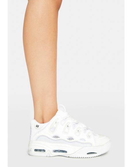 White D3 2001 Skate Shoes