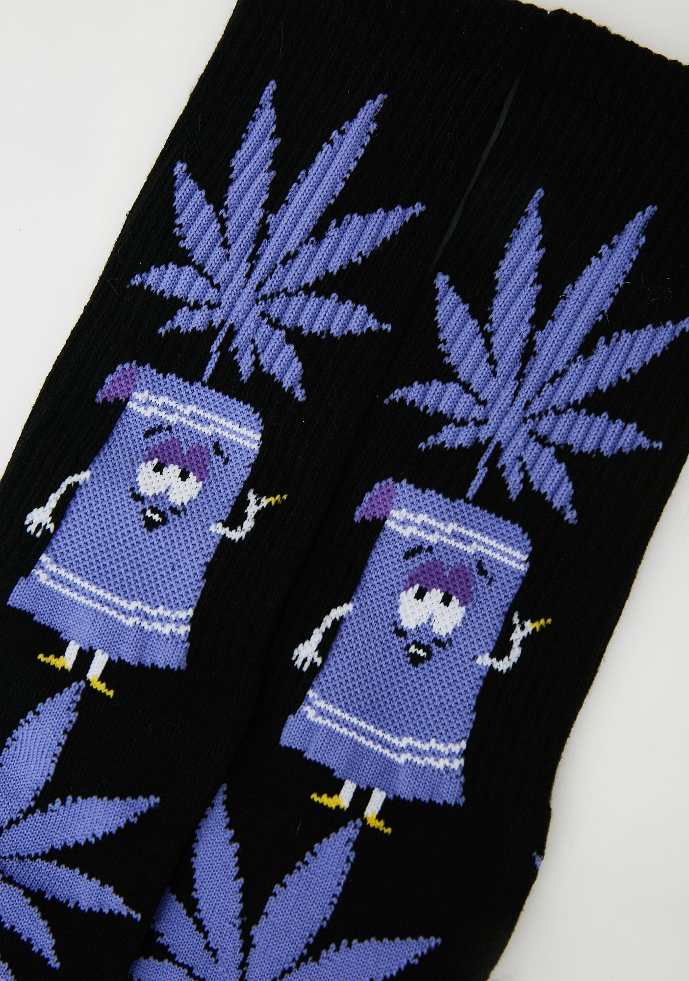 HUF Towelie Plantlife Socks