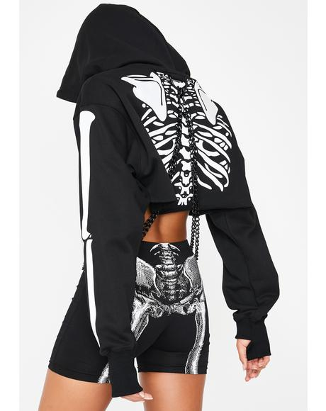 Flesh N' Bones Reflective Hoodie