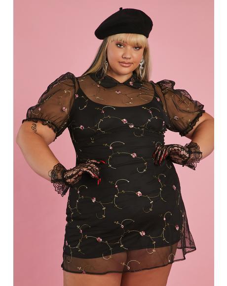 She's Homemade With Love Organza Mini Dress