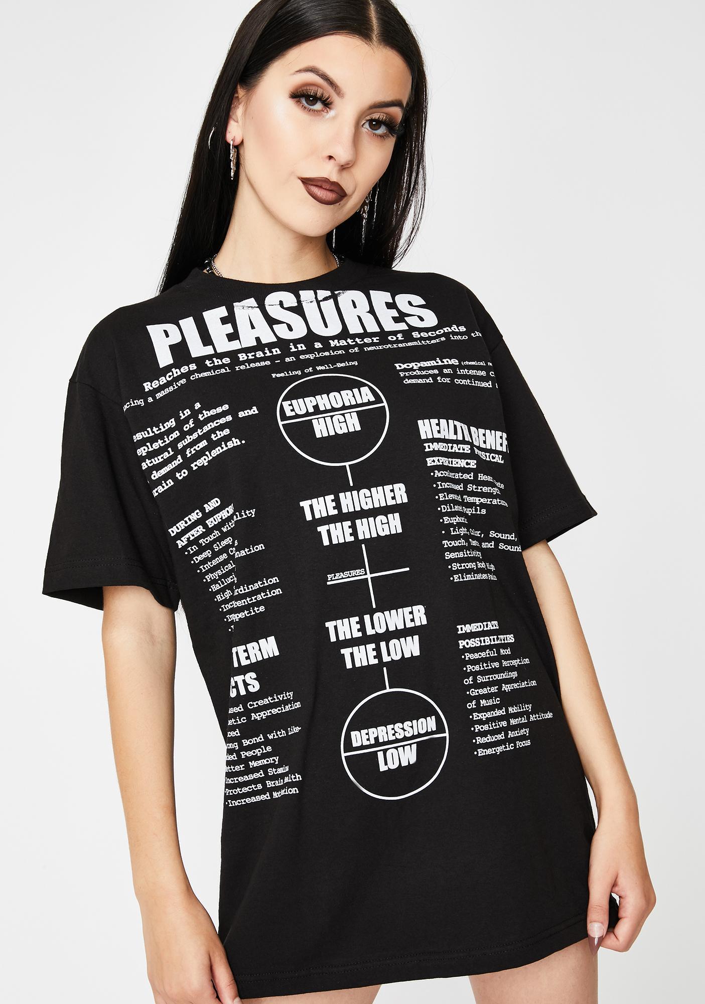 Pleasures Black Higher Graphic Tee