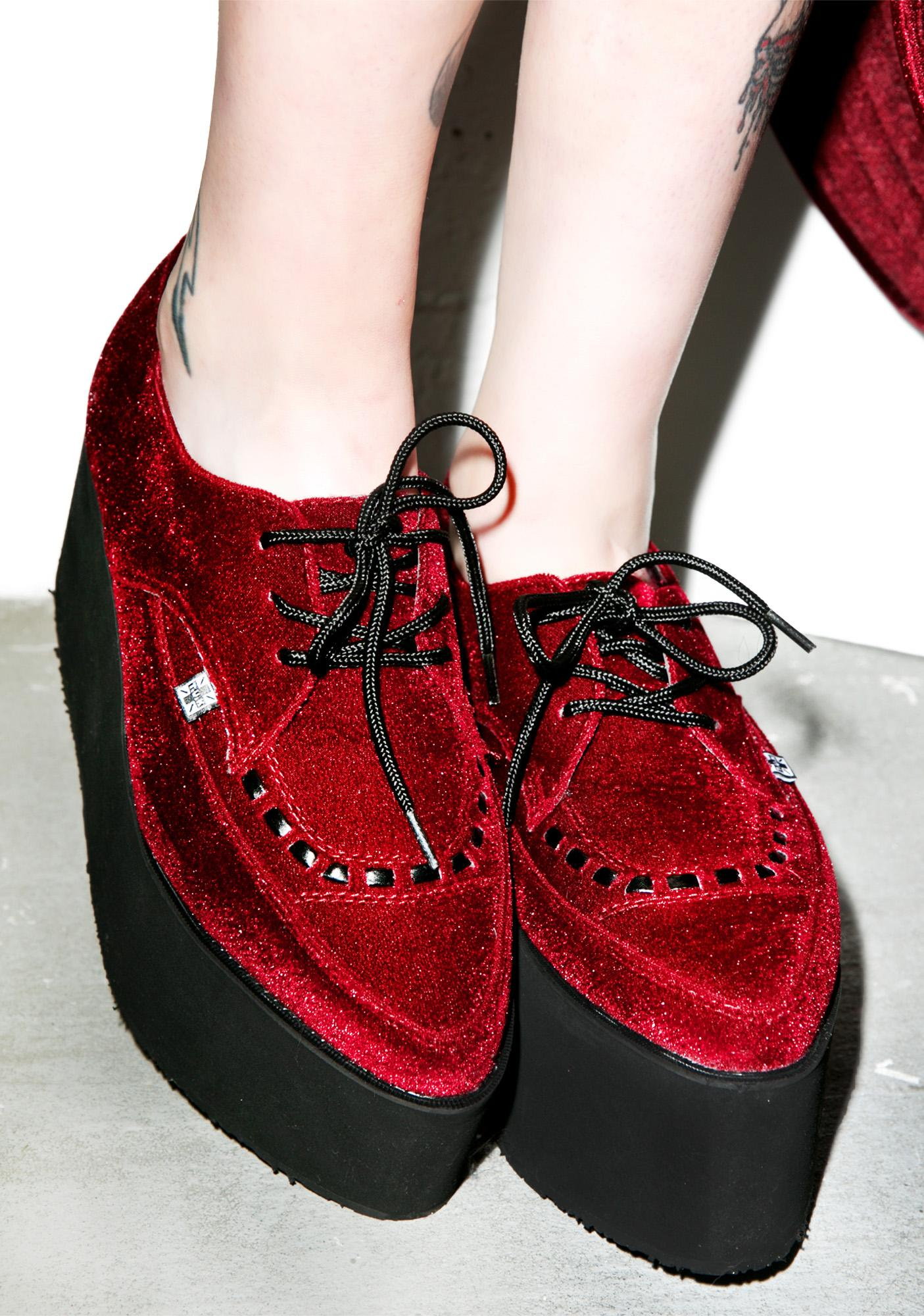 check out 57170 a40eb Velvet Eva Pointed Stacked Creepers