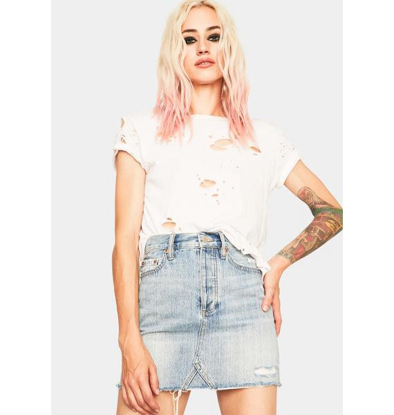 Daze Lovergirl Denim Mini Skirt