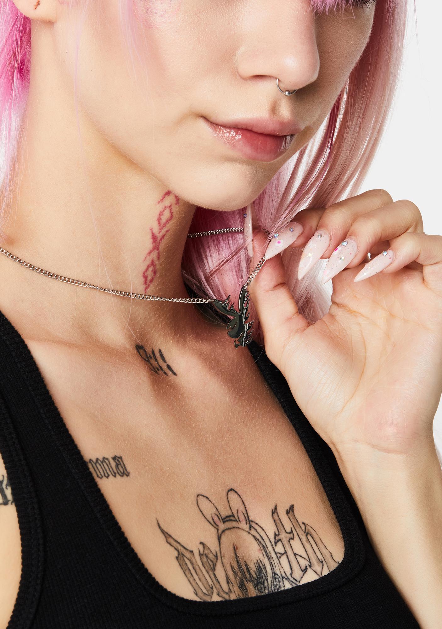 Rare-Romance Flameboi Bunny Chain Necklace