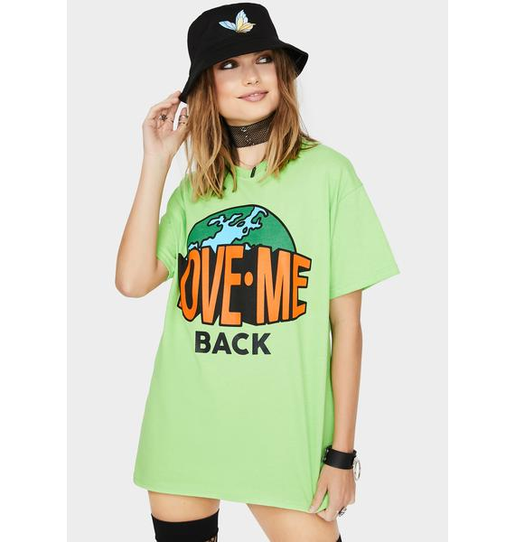 Petals and Peacocks Lime Love Me Back Graphic Tee