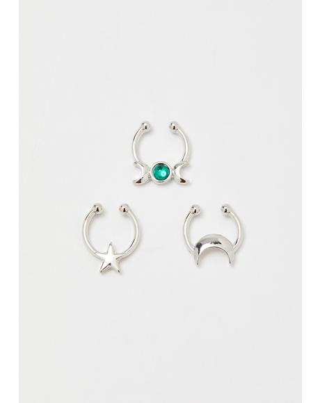 Endless Mystic Septum Ring Set