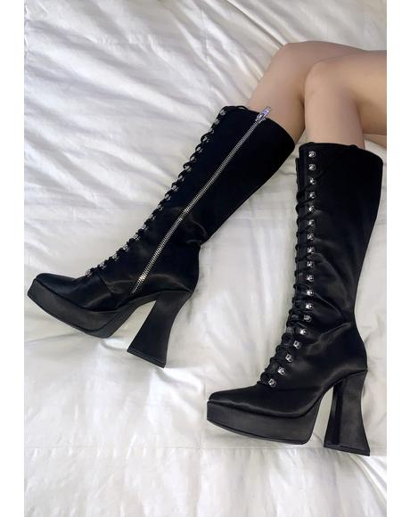 Escape Plan Lace Up Boots