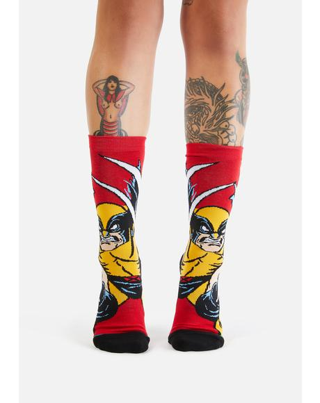 X-Men Wolverine Crew Socks