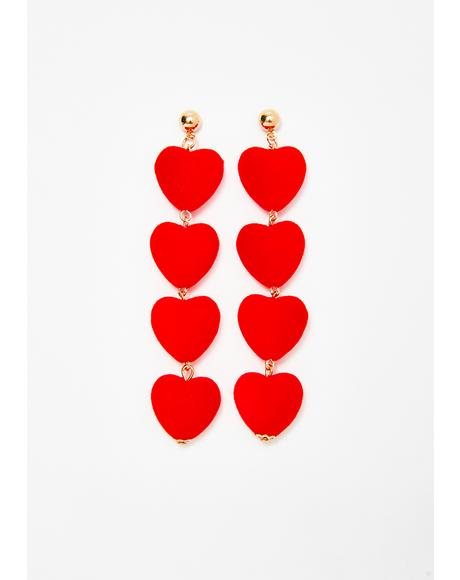 Vivid Lover Heart Earrings