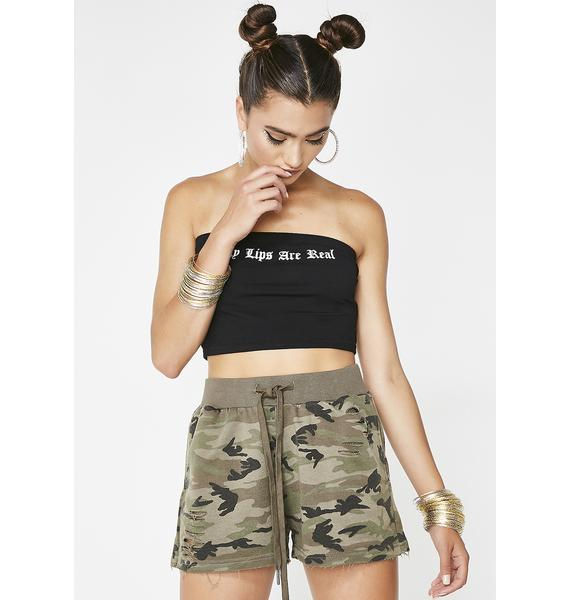 Lazy Wayz Camo Shorts