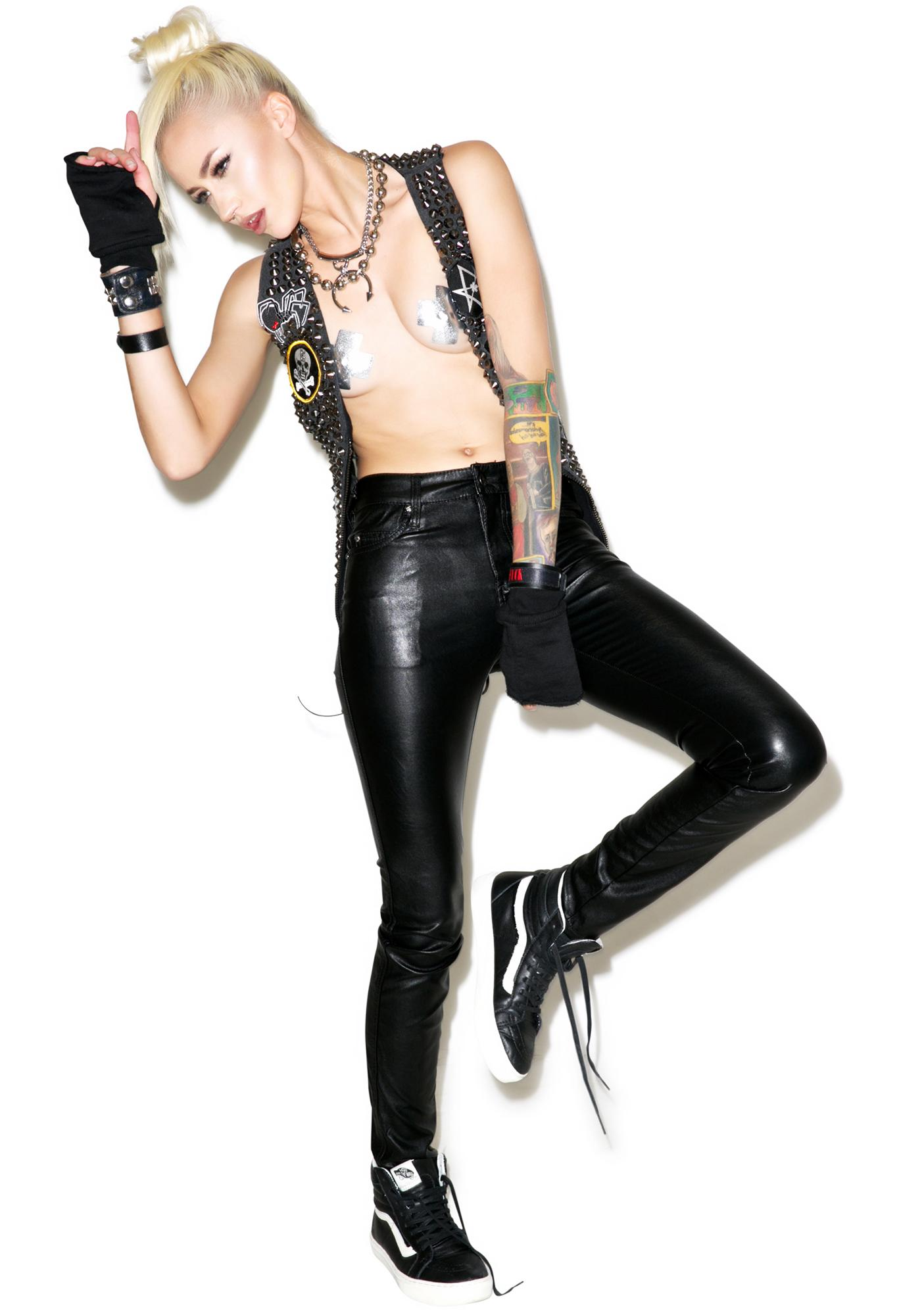 1347e3de2110 ... Tripp NYC Faux Leather Skinny Pants ...