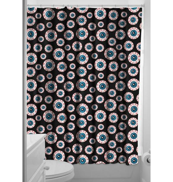 Sourpuss Clothing Optical Delusion Shower Curtain