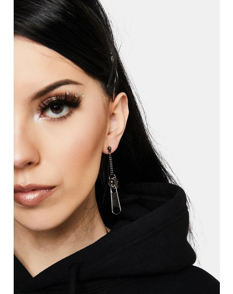 All On Me Zipper Drop Earrings