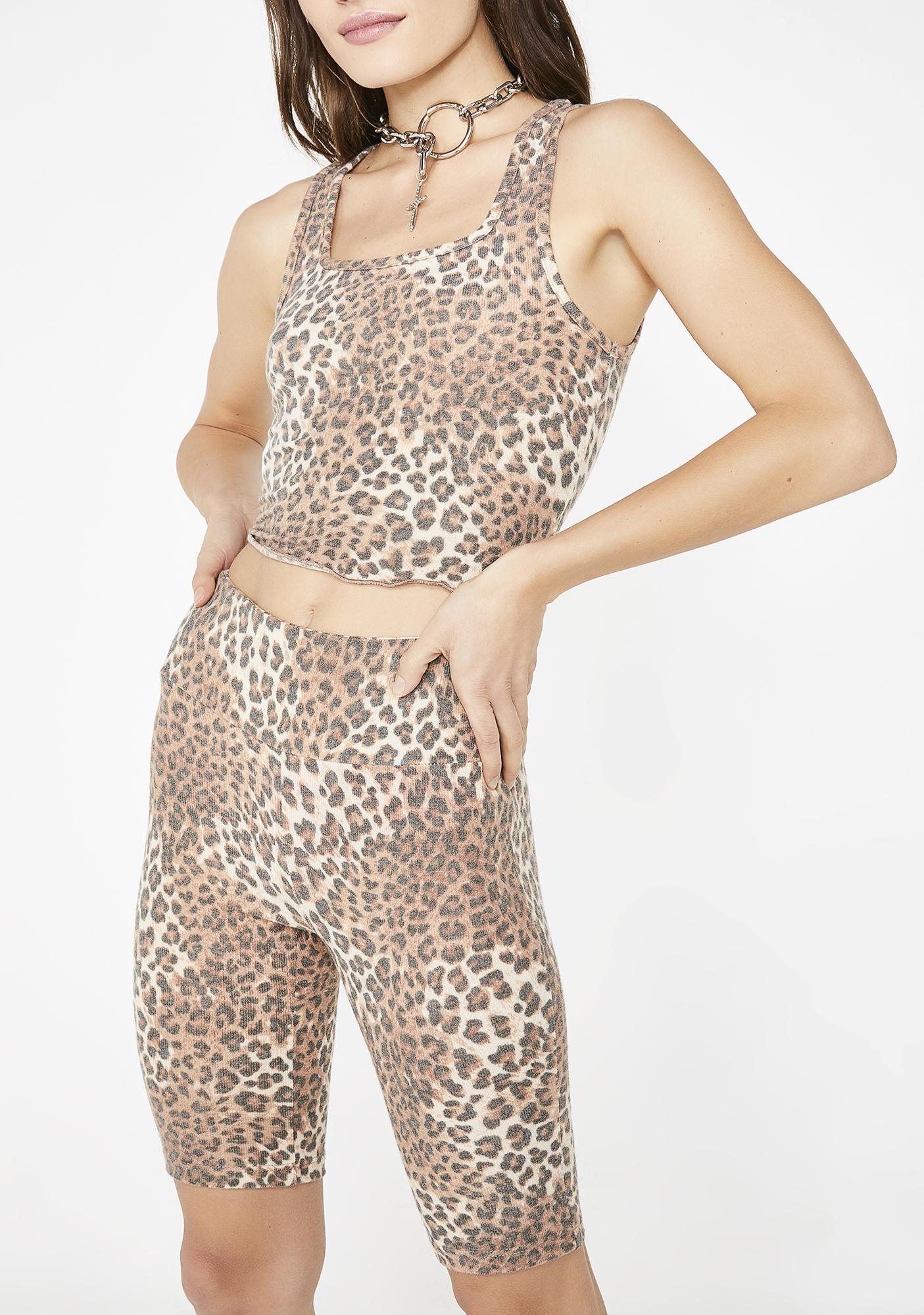 Flirty Feline Shorts Set