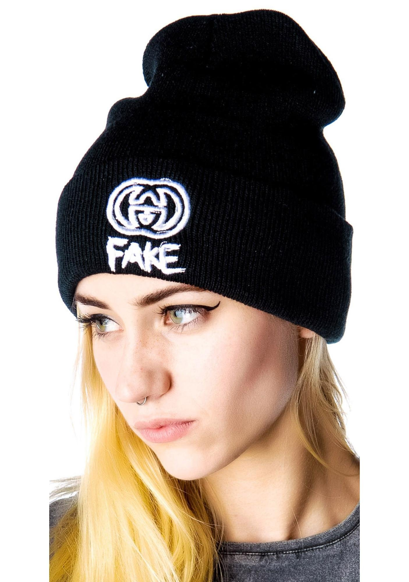 Petals and Peacocks Fake GG Beanie