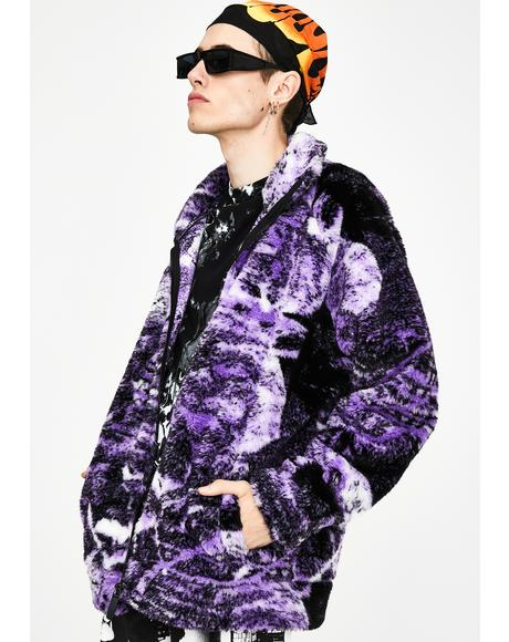 Psychedelic Collage Borg Jacket