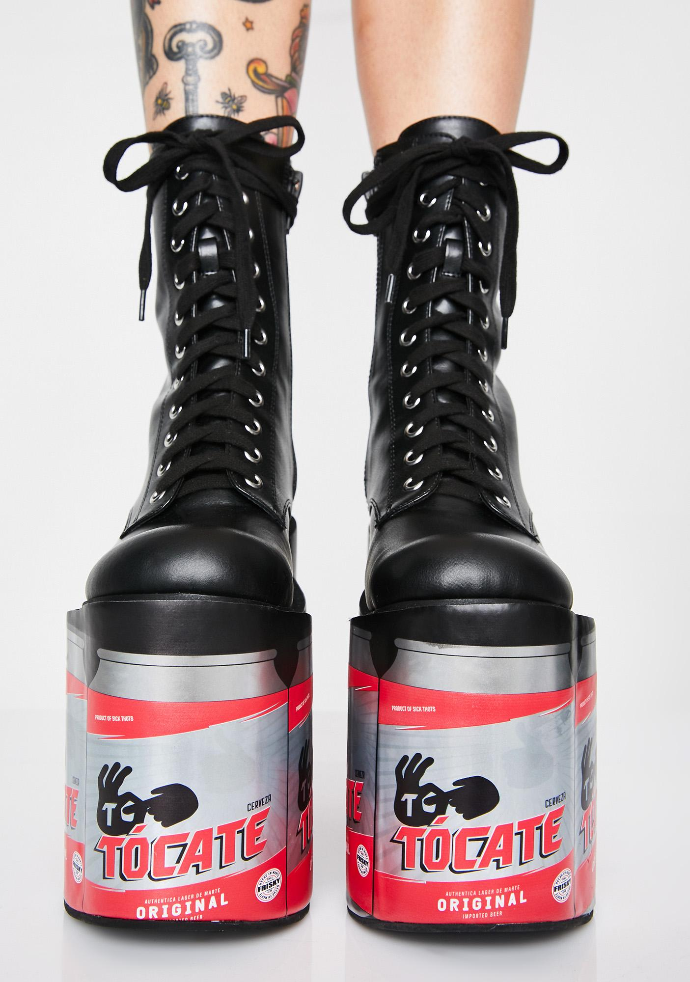 Current Mood Beer O' Clock Platform Boots