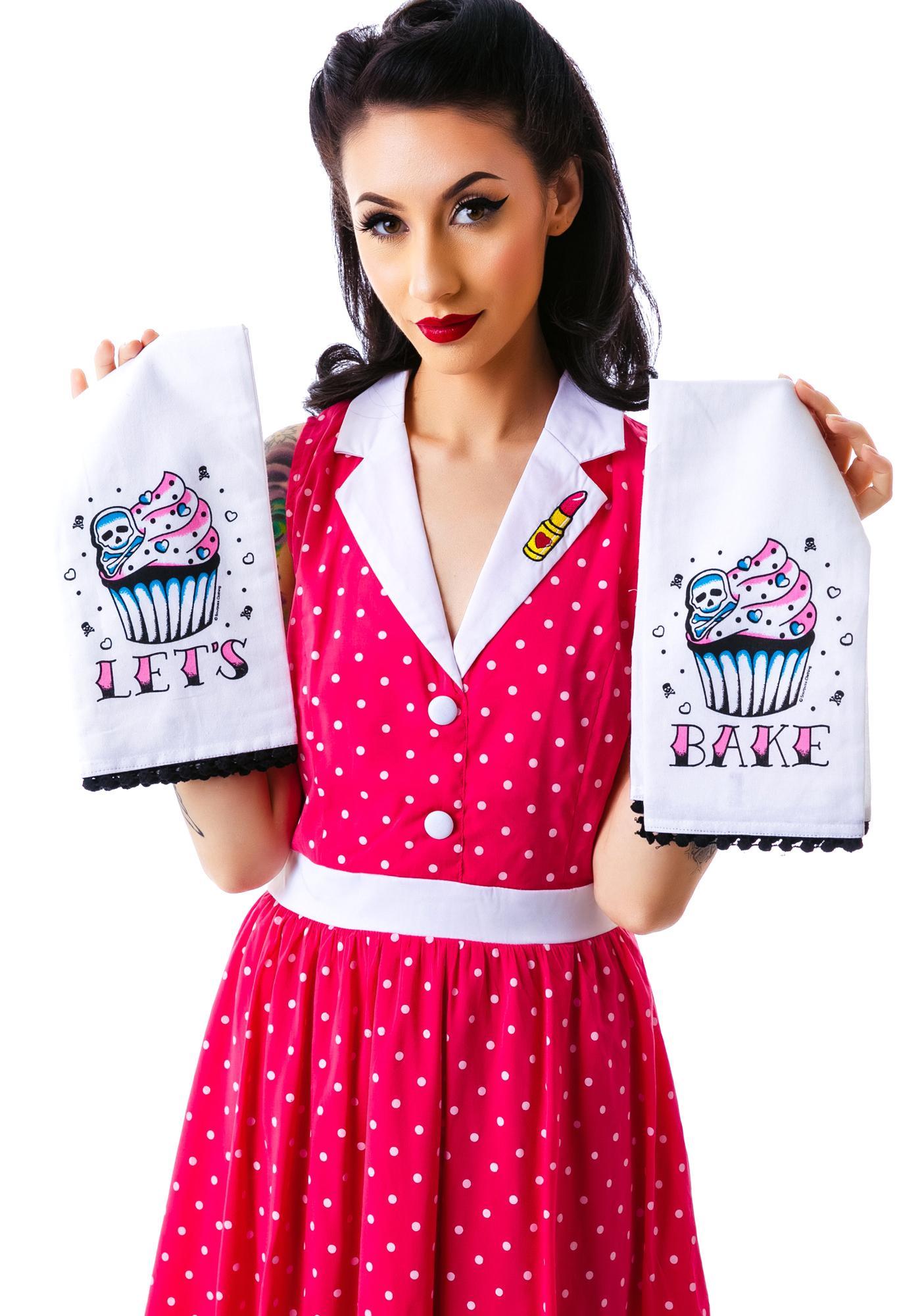 Sourpuss Clothing Let's Bake Tea Towel Set