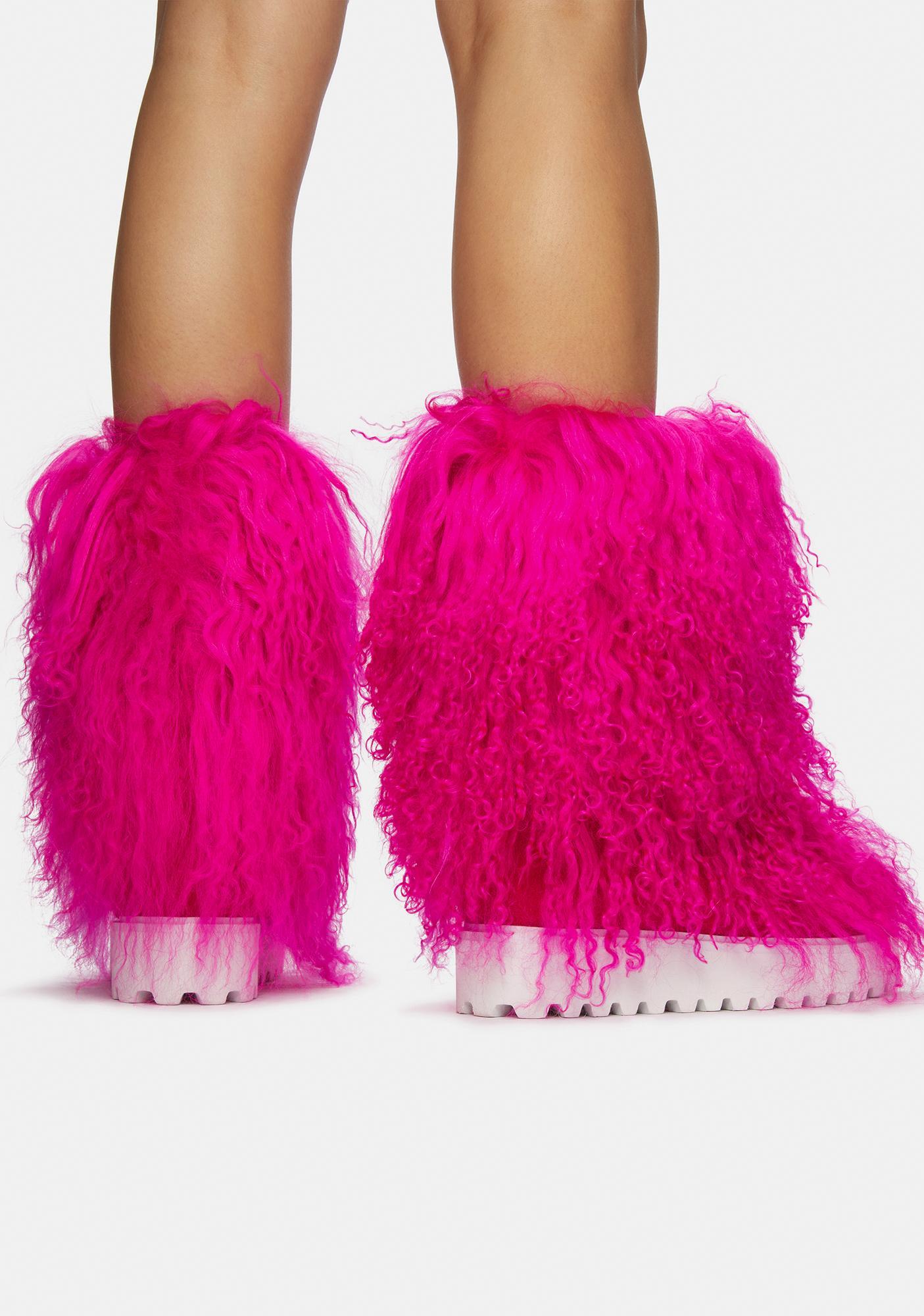 AZALEA WANG Orchid Faux Fur Boots
